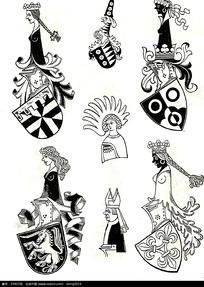 国外人物徽章图案素材