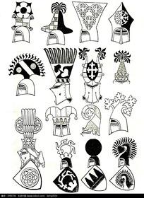 国外头盔徽章图案素材