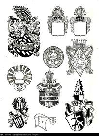 欧美徽章图案素材