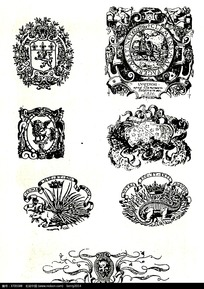 欧美徽章图案素材摄影图片