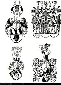 人物国外徽章图案素材