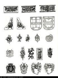 植物徽章图案素材