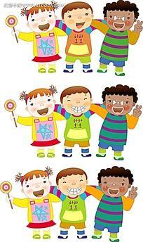 韩国矢量卡通儿童素材