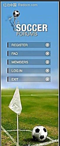 足球论坛英文网站模板