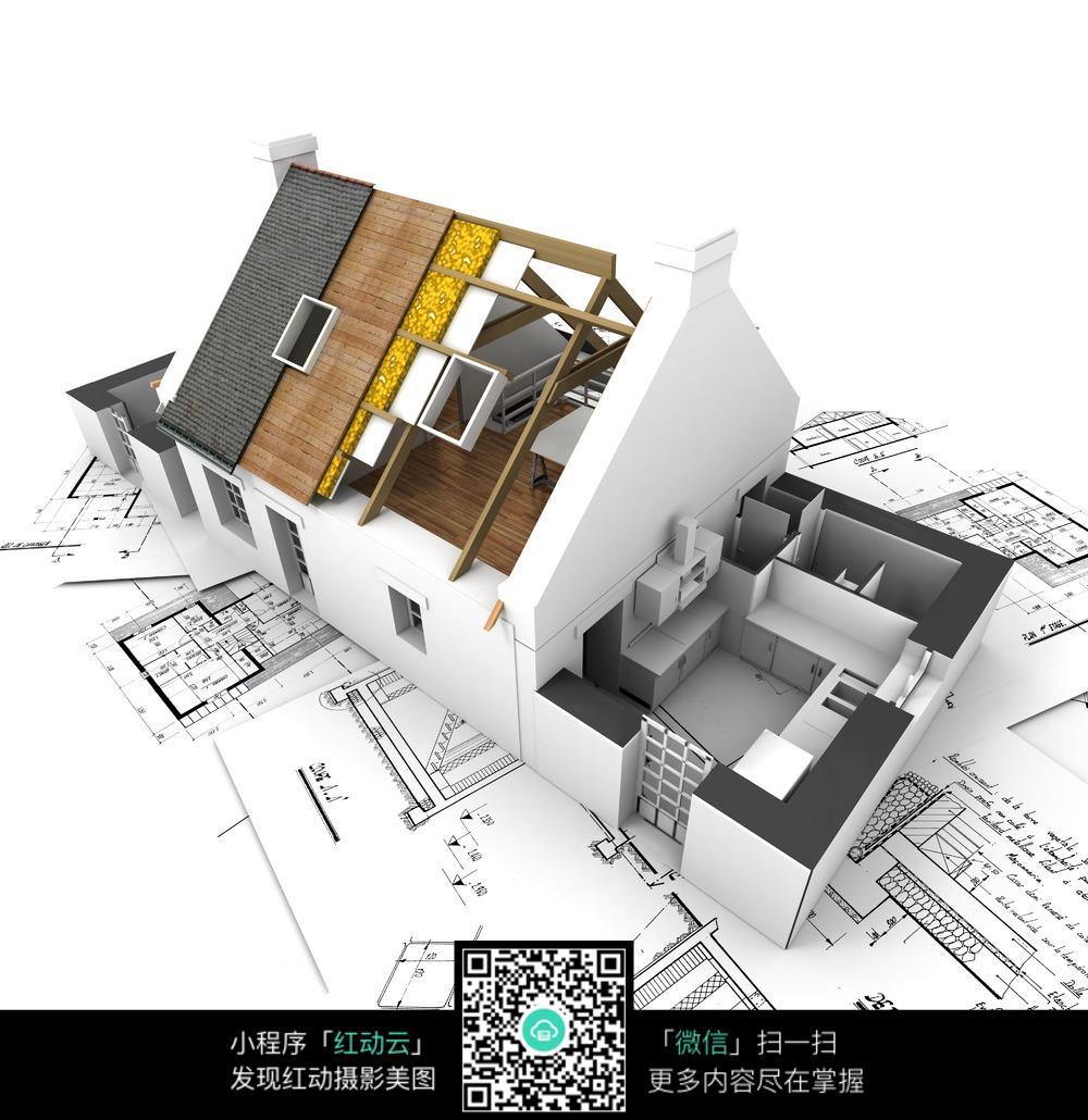 模型v模型图纸图纸图片图片_工业生产坐骑8.0立体房屋图片
