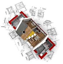 房屋建设图纸模型