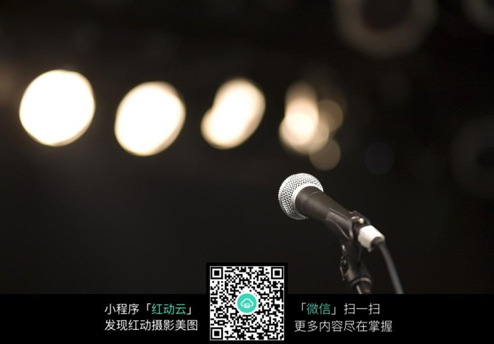 话筒灯光背景图 影音娱乐图片