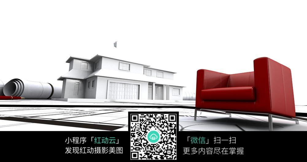 手绘建筑草图_工业生产图片_红动手机版