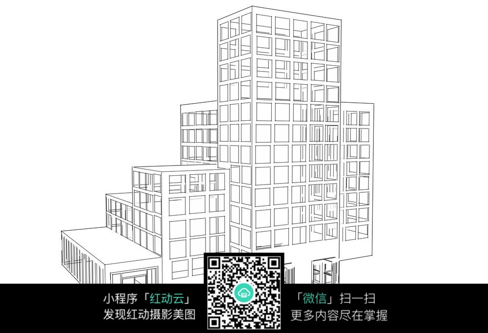 建筑立体手绘图图片