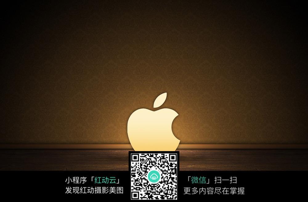 金色苹果标志桌面图片