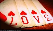 love扑克牌图片背景素材
