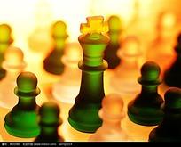 绿色白色国际象棋