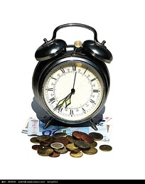 时钟金钱创意图
