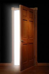 透过木门的阳光贴图