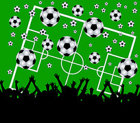 舞动的人影足球背景图