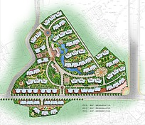 小区居民区规划图