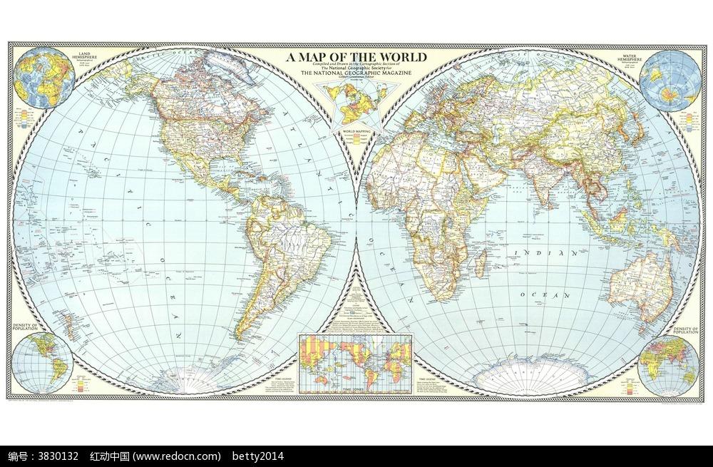 一张全球地图