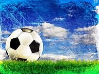 足球蓝天图片