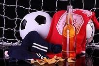 足球球衣啤酒薯片网高清图