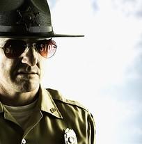 电影中男人警察人物素材
