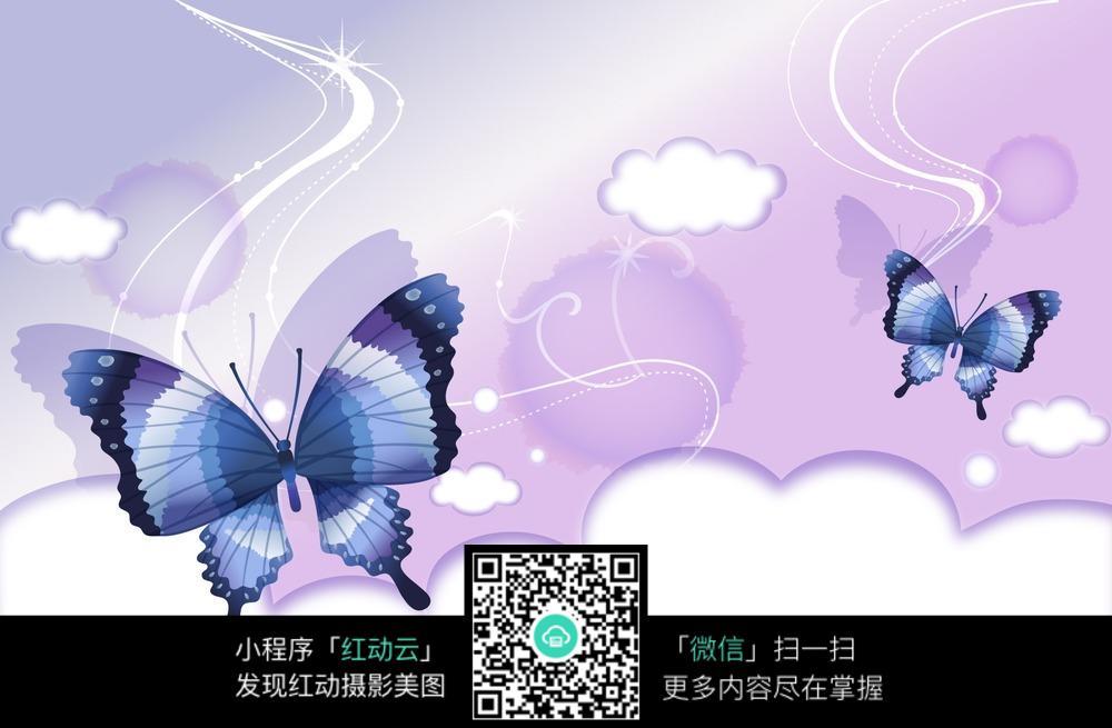 蓝色蝴蝶图片素材