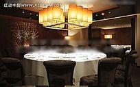 豪华餐厅包间效果图图片