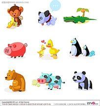 卡通动物插图