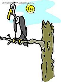 矢量秃鹫插图