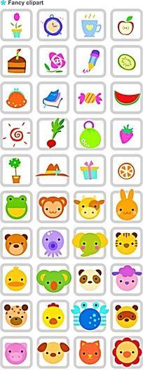 动物头像韩国矢量人物卡通