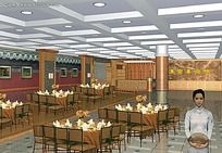 饭店餐厅模型源文件