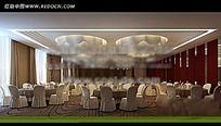 环境优雅的餐厅3D模型效果图