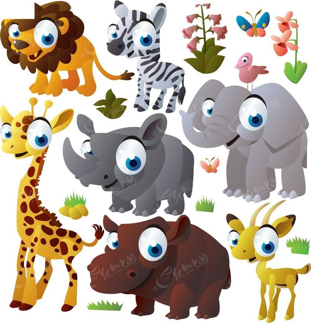 卡通小动物矢量素材EPS免费下载 编号3796922 红动网