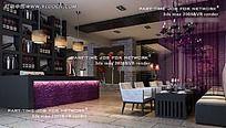 温馨浪漫餐厅模型效果图