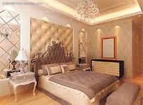 白色欧式软包造型卧室图图片