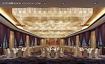 高端时尚的餐厅大厅装修效果图片
