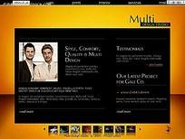 黄色背景英文网站模板