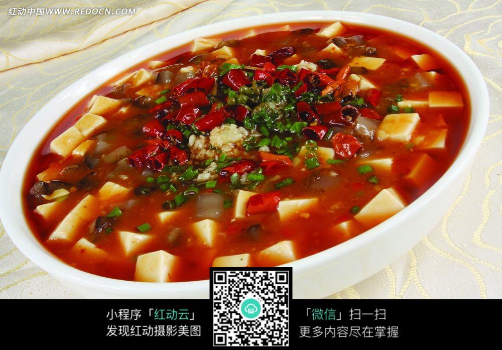 麻婆豆腐烩辽参_中华美食图片