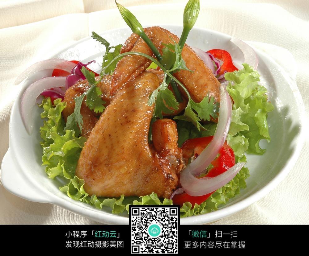 蒜香鸡翅图片免费下载 红动网