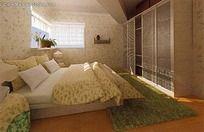田园碎花卧室效果图片