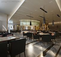 现代干净明快风格餐厅图片