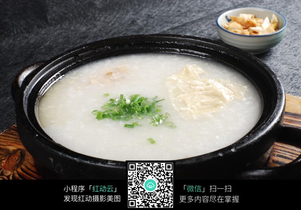 瑶柱白果府皮粥图片_中华美食图片