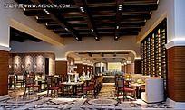 中式典雅餐厅大厅设计效果图片