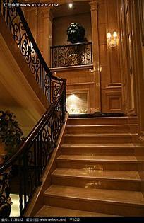 别墅室内大理石楼梯图片 别墅室内大理石楼梯设计素材 红动网