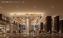 环境优雅餐厅效果图