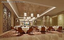 简欧餐厅大厅效果图片