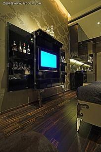 酒柜电视背景墙装饰效果图