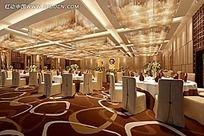 奢华欧式公共餐厅效果图片
