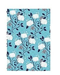 蓝色花朵藤蔓矢量背景