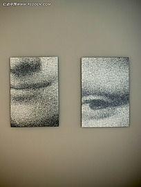 蒙娜丽莎壁画装饰效果图