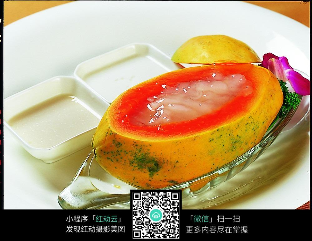 特色木瓜炖雪蛤图片